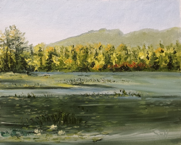 Berry Pond Oil Painting