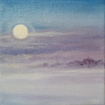 Full Snow Moon Oil Painting