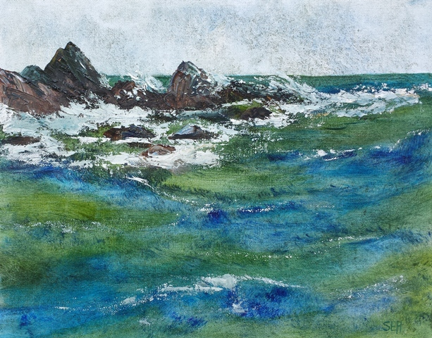 September Seas Oil Painting