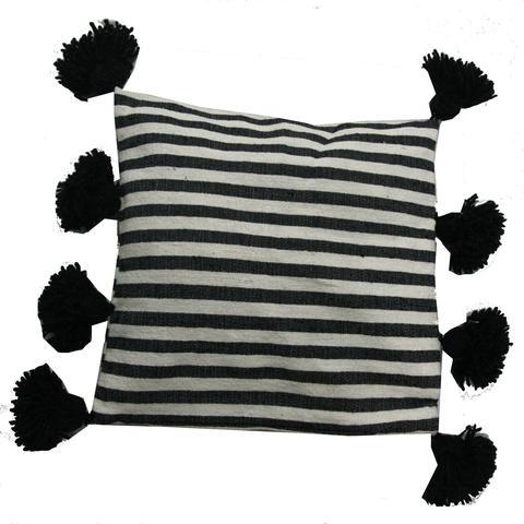 Moroccan Pillow, Black & White