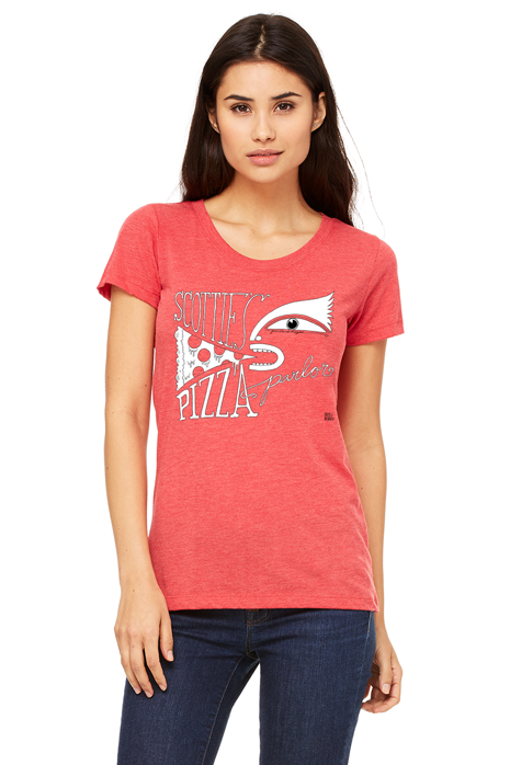 Women's Tri-Blend Red T-Shirt