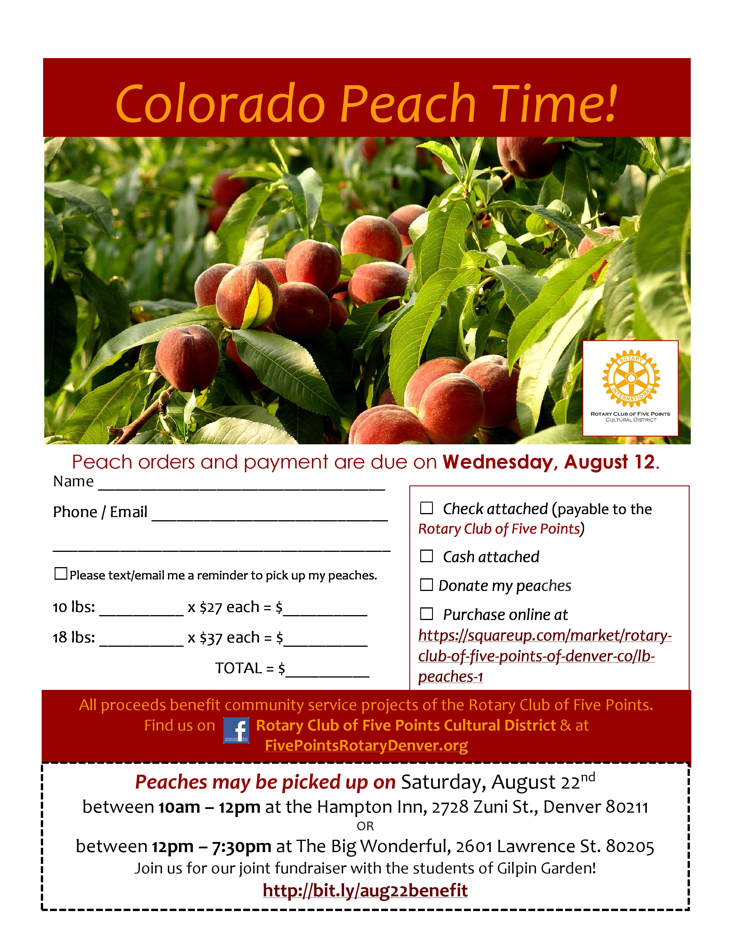 Rotary Club Of Five Points Palisade Peach Sale 2015