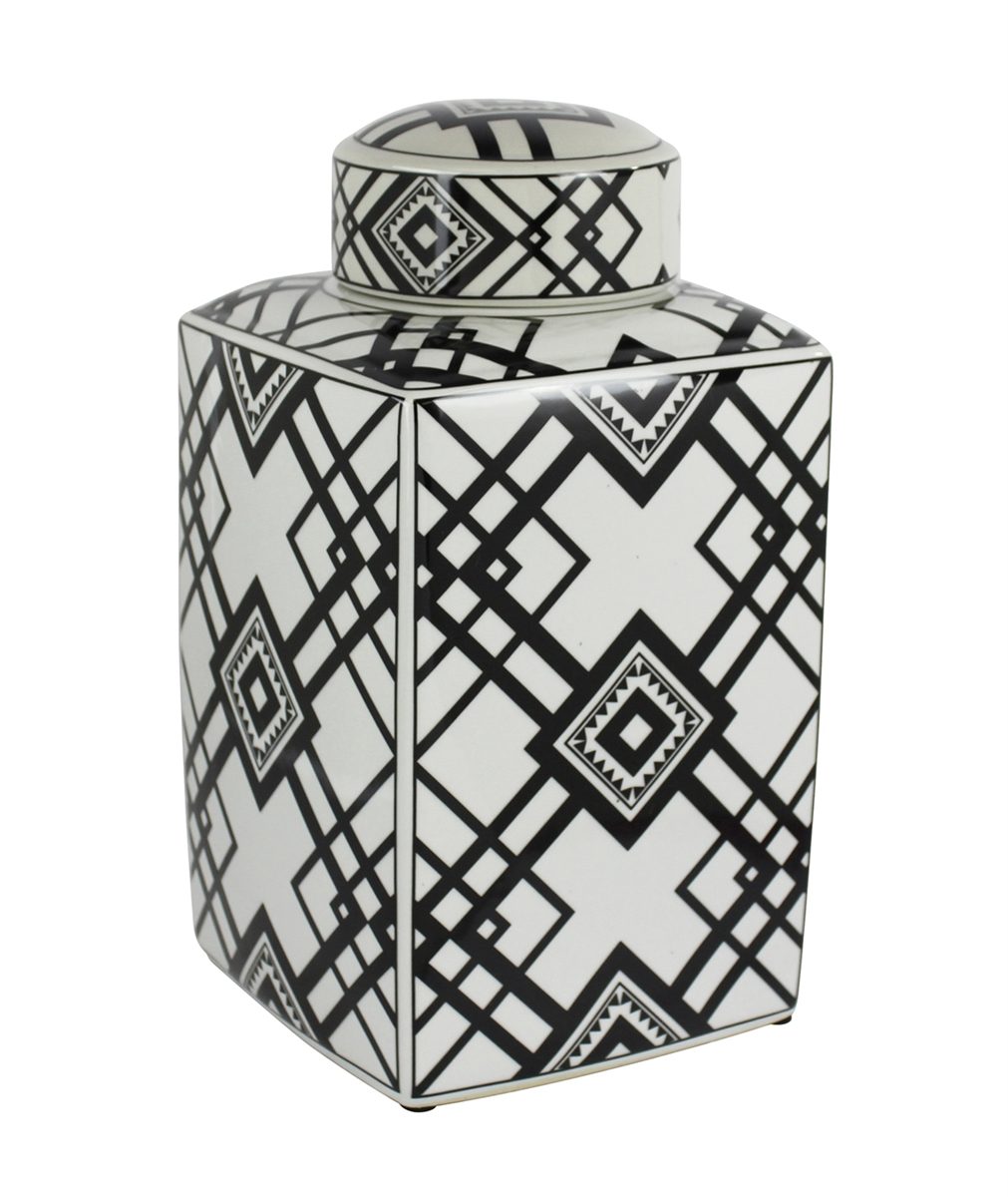 Black & White Castro Jar, Small