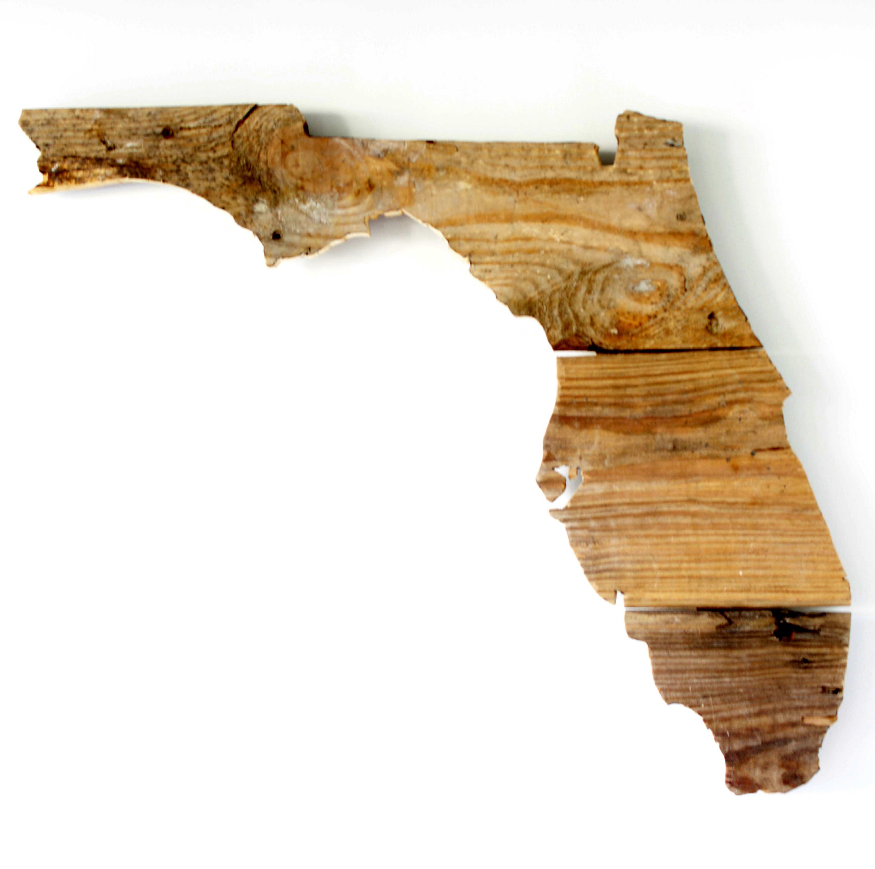 State Pictures Florida Reclaimed Wood State Cutout